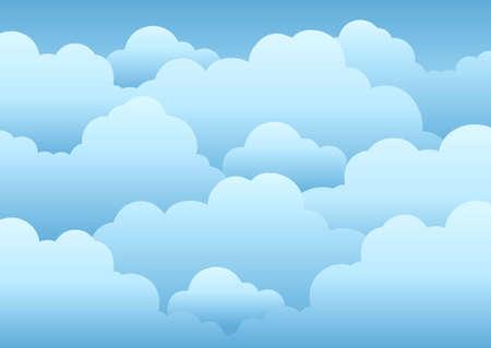 Illustration pour Cloudy sky background  - illustration. - image libre de droit