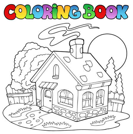 Coloring book with small house