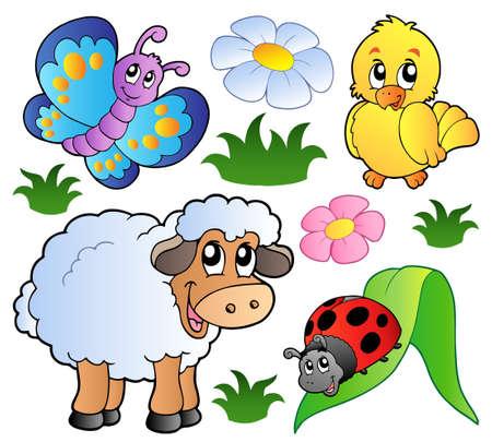 Foto de Various happy spring animals   - Imagen libre de derechos