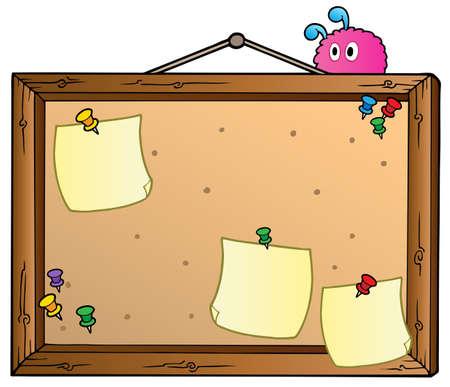 Cartoon bulletin board