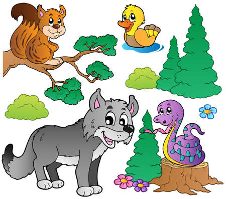 Photo for Forest cartoon animals set 2 - Royalty Free Image
