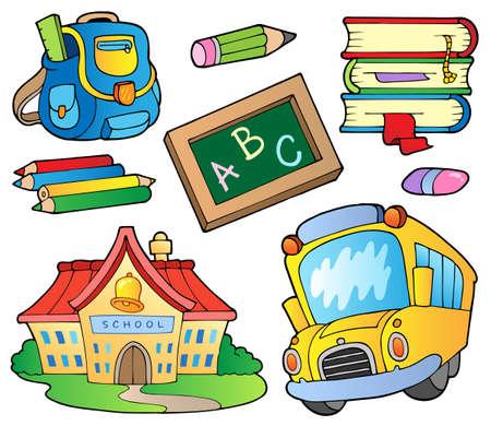 Illustration pour School supplies collection  - image libre de droit