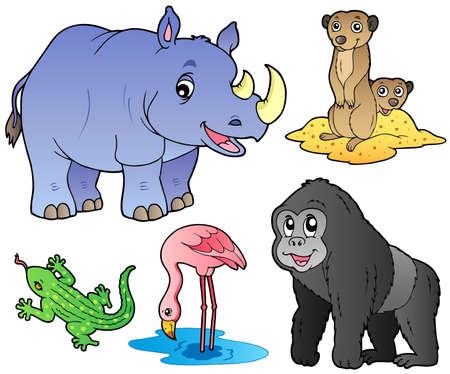 Foto de Zoo animals set 1 - vector illustration. - Imagen libre de derechos