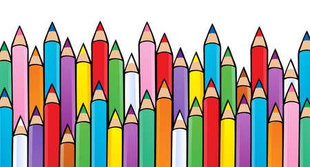 Various crayons image 1 - vector illustration.