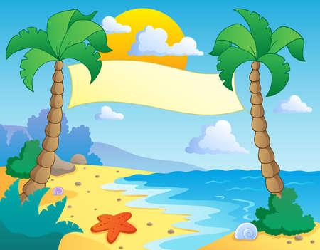 Illustration pour Beach theme scenery 4 - vector illustration  - image libre de droit