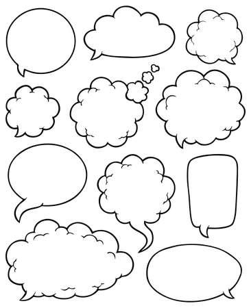 Illustration pour Comics bubbles collection 4 - vector illustration  - image libre de droit