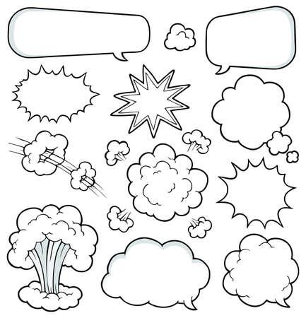Comics elements collection 2 - vector illustration