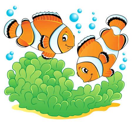 Clown fish theme image 1  illustration