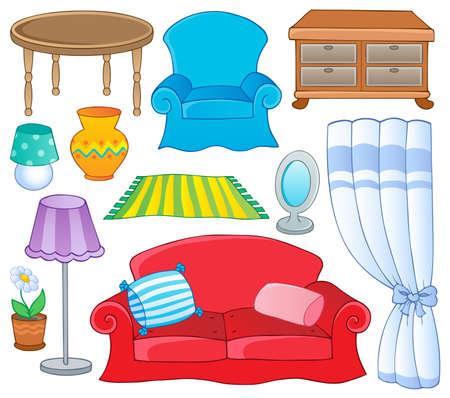 Furniture theme collection 1  illustration