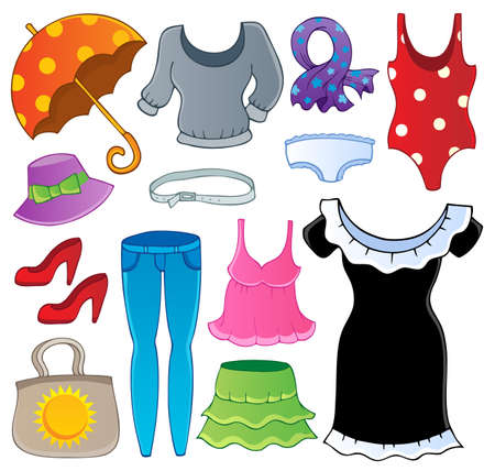 Clothes theme collection 2 - vector illustration