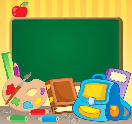 Schoolboard theme image 1 - vector illustration