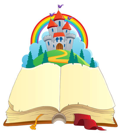 Illustration for Fairy tale book theme image 1 - vector illustration  - Royalty Free Image