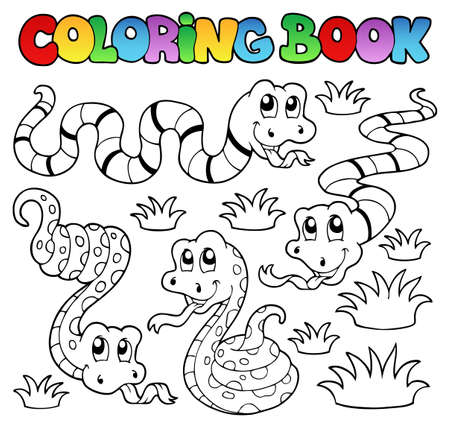 Coloring book snakes theme 1 - vector illustration
