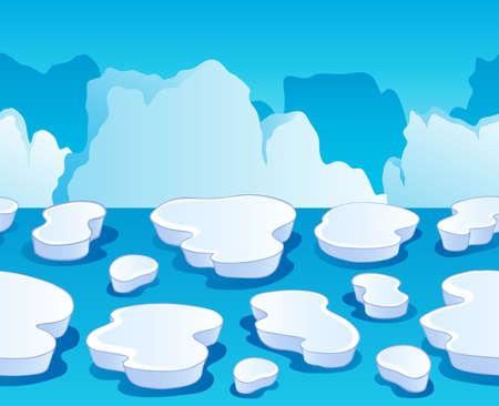 Horizontally seamless sea ice 1 - vector illustration