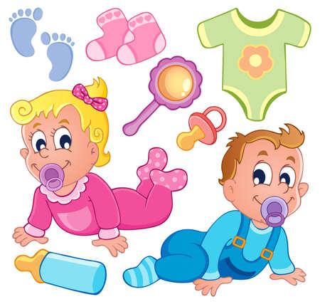 Foto de Babies theme collection 2 - Imagen libre de derechos