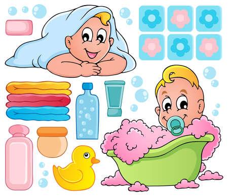 Foto de Baby bath theme collection 1  - Imagen libre de derechos
