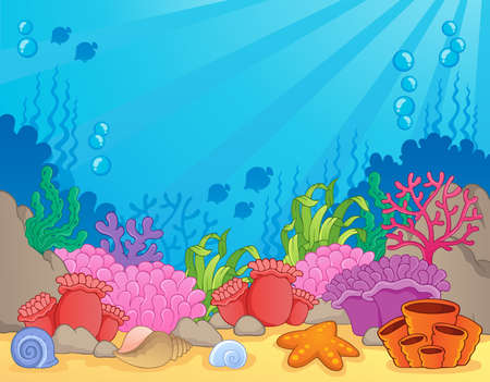 Coral reef theme image 4 - vector illustration