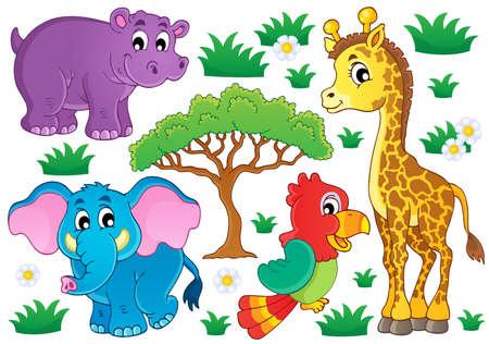 Ilustración de Cute African animals collection 1  - Imagen libre de derechos