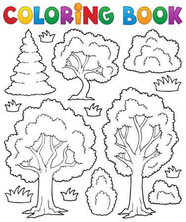 Coloring book tree theme