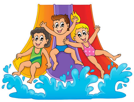 Image with aqua park theme