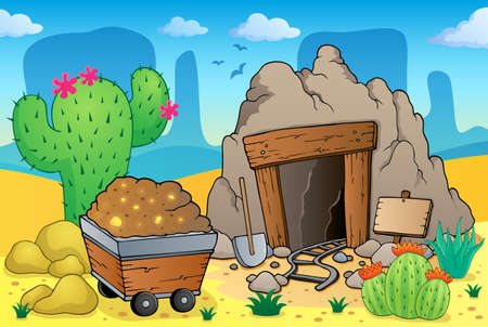 Desert with old mine theme