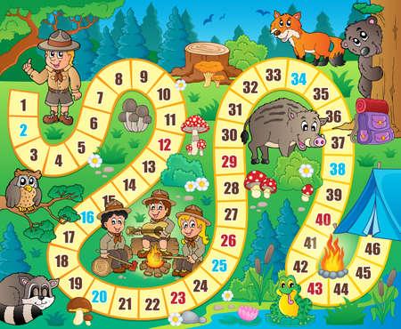 Illustration pour Board game theme image 8 - eps10 vector illustration. - image libre de droit