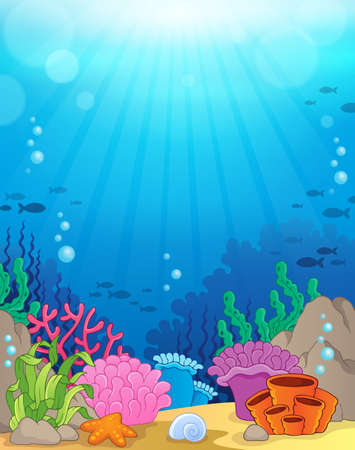 Illustration pour Ocean underwater theme background - image libre de droit