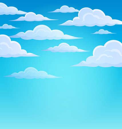 Illustration pour Clouds on sky theme 1 - eps10 vector illustration. - image libre de droit