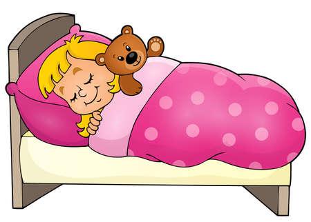 Illustration pour Sleeping child theme image  - image libre de droit