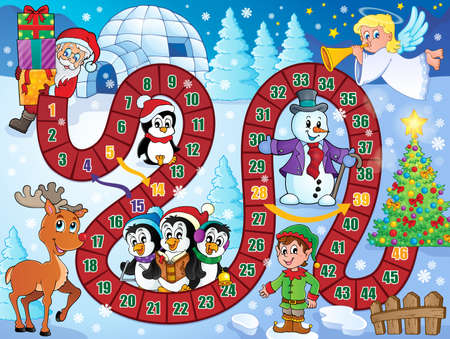 Board game image with Christmas theme 1