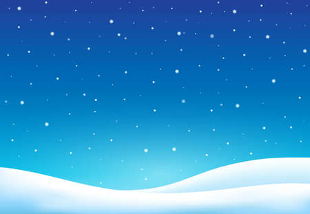 Winter theme background - vector illustration.