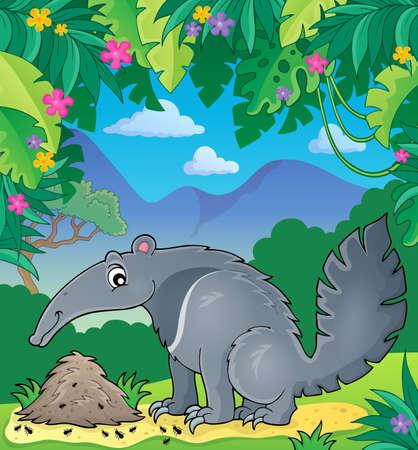 Illustration pour Anteater theme image 2 -  vector illustration. - image libre de droit