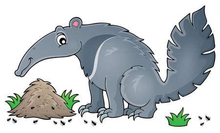 Illustration pour Anteater theme image 1 -  vector illustration. - image libre de droit