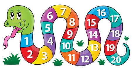 Ilustración de Snake with numbers theme image 1 - eps10 vector illustration. - Imagen libre de derechos