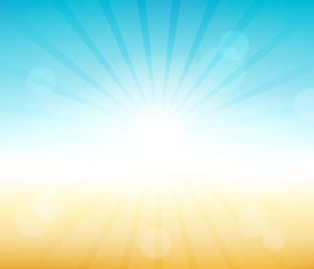 Ilustración de Summer theme abstract background - Imagen libre de derechos