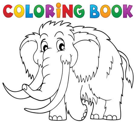 Ilustración de Coloring book mammoth - Imagen libre de derechos