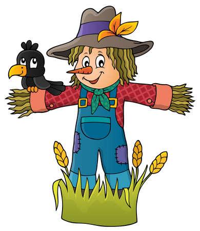 Illustration pour Scarecrow theme image - image libre de droit