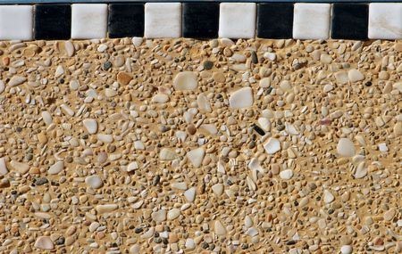 Moroccan smooth stones and ceramic wall