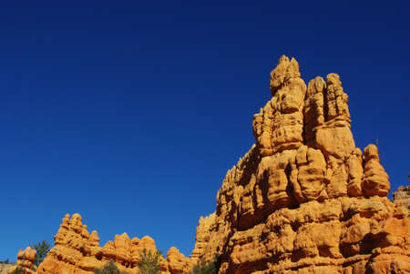 Orange and blue sky rock formations, Bryce Canyon National Park, Utah