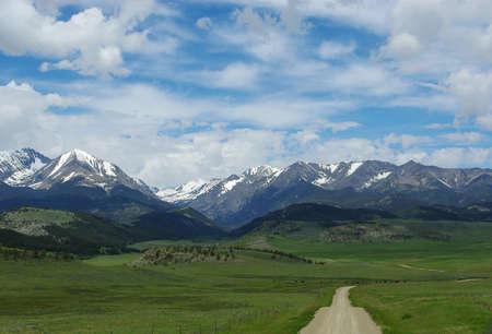 Dirt road to Bridger Range, Gallatin National Forest, Montana