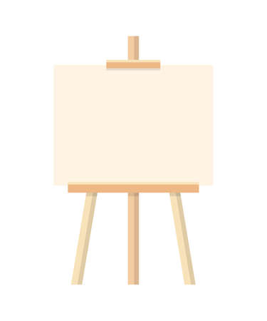 Illustration for Blank painting easel flat vector illustration - Royalty Free Image