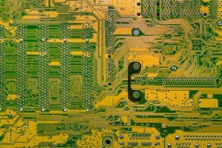 Photo pour Back view of a motherboard. - image libre de droit