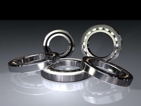 Photo pour ball bearings for transmitting the rotation - image libre de droit