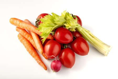 wicker basket with mixed vegetables in season