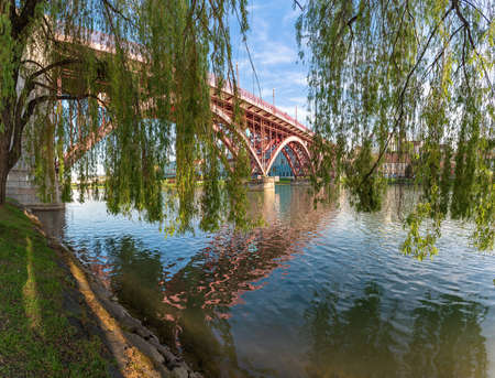 View of Drava River - Maribor (Marburg) city - Slovenia