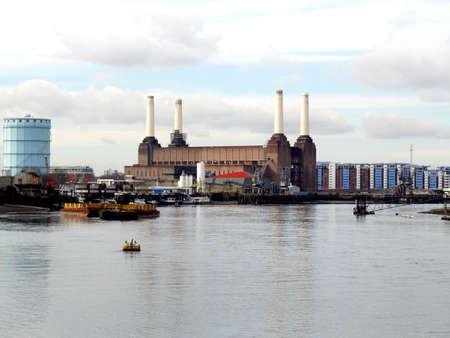 London Battersea powerstation, a landmark abandoned factory