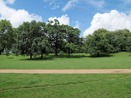 The Kensington Gardens and Hide Park, London, UK