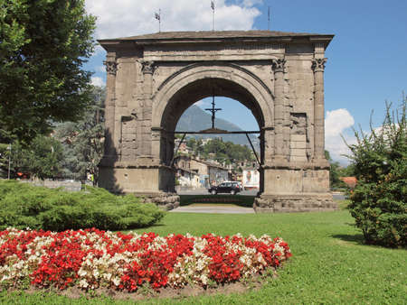 Arco d Augusto (Arch of August) in Aosta Italy