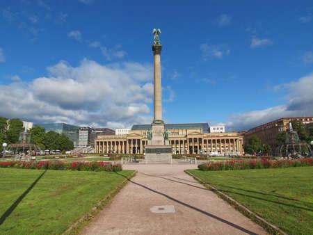 The Schlossplatz (Castle square) in Stuttgart, Germany