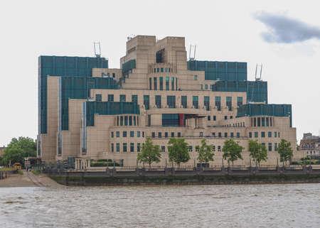 SIS MI6 headquarters of British Secret Intelligence Service at Vauxhall Cross London